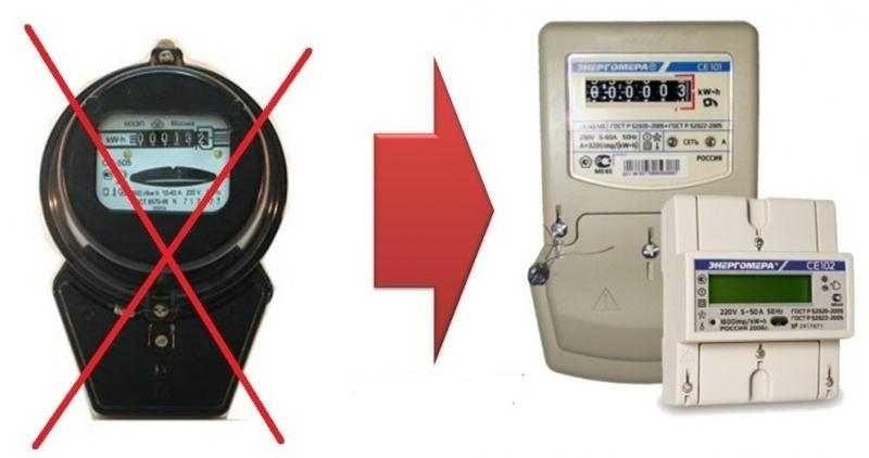 Замена счетчика электроэнергии дешево