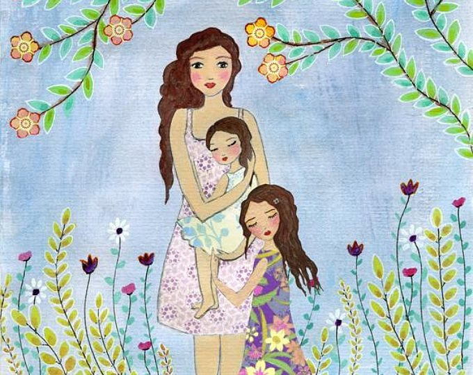 рисунок дочки матери